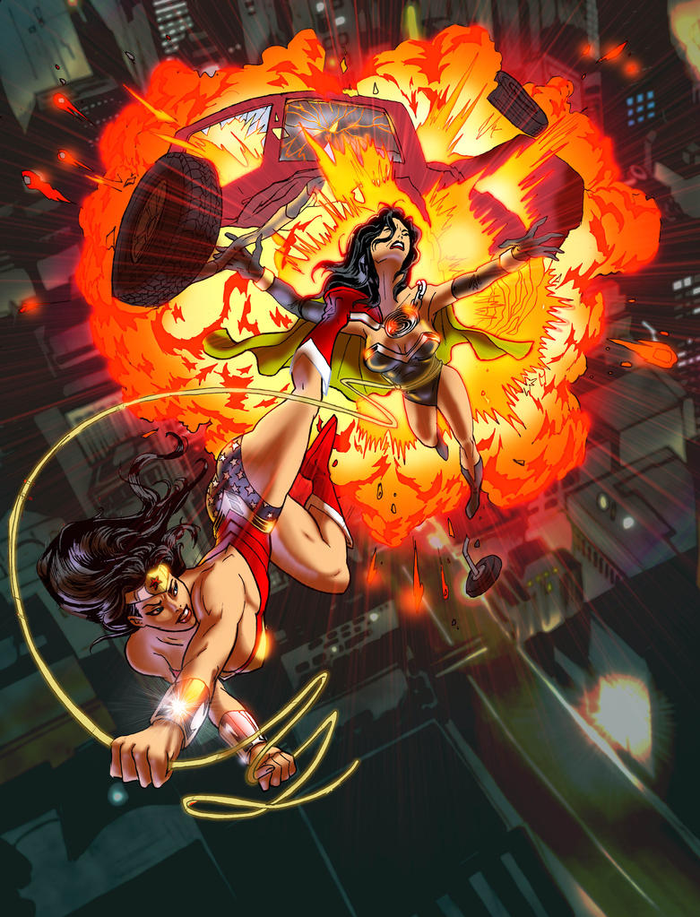 Wonder Woman vs. Superwoman by timothylaskey
