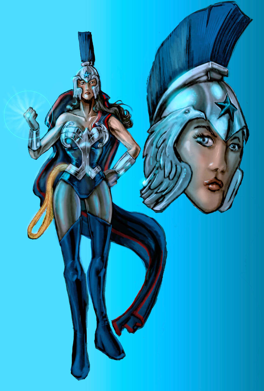 Wonder Woman: Blue Lantern by timothylaskey