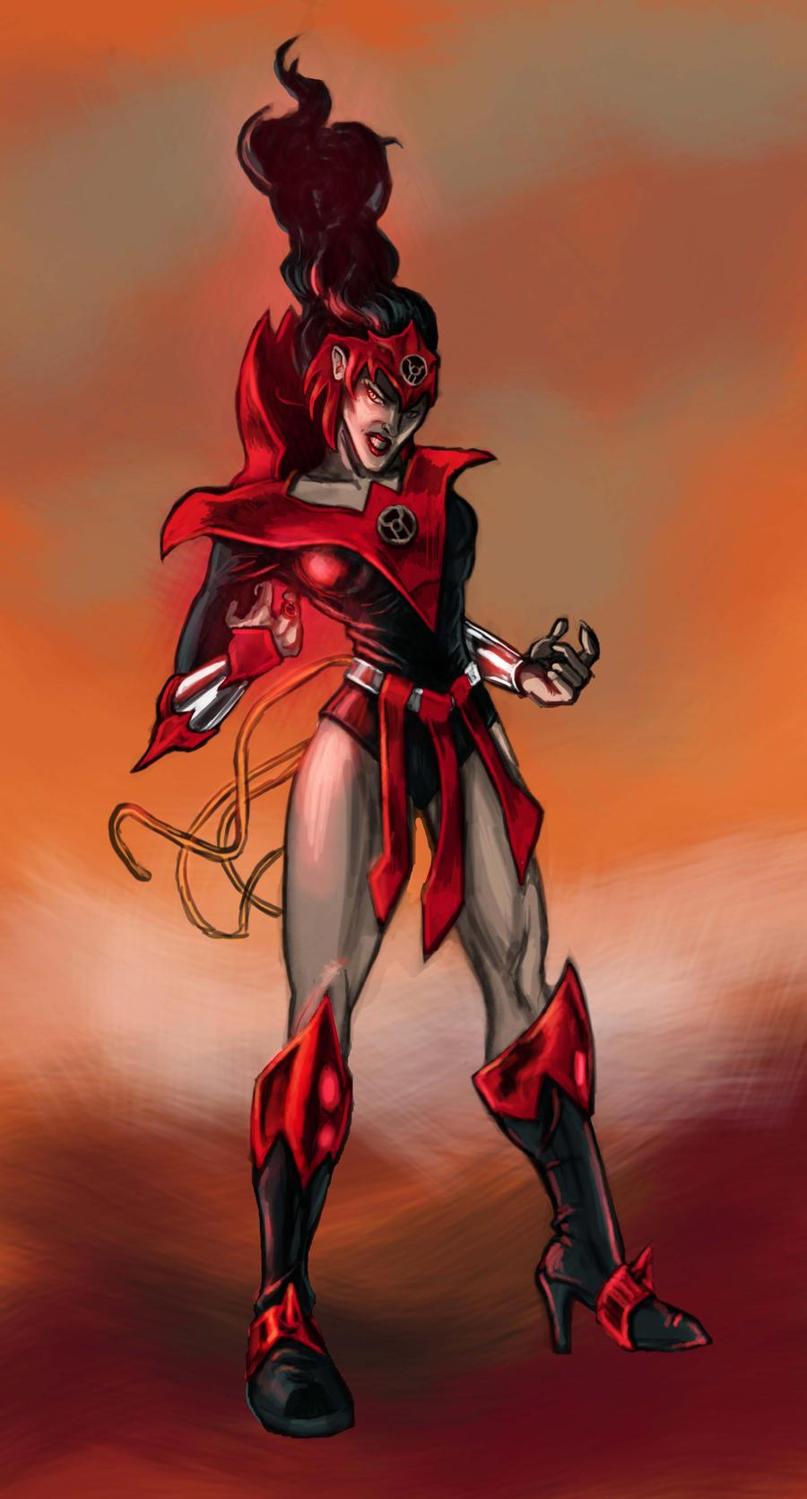 Wonder Woman: Red Lantern by timothylaskey