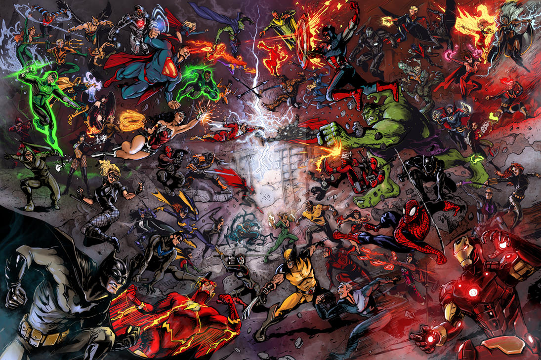 Dc vs Marvel: War of the Universes by timothylaskey
