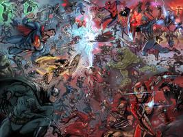 DC vs MARVEL (2016) by timothylaskey