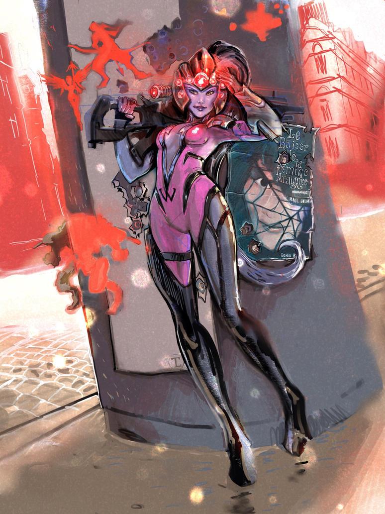 Widowmaker from Overwatch by timothylaskey