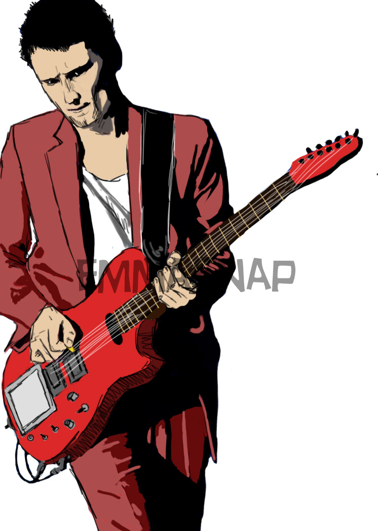 Matt Bellamy Illustration by emmasnap