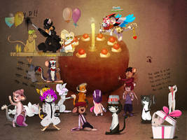 Joyeux Anniversaire Transformice ! by TFM-FR-FanArt