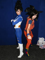 Vegeta and Goku cosplay by Illuminated-Imagery