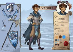WoE - Xander character sheet by Lazriell