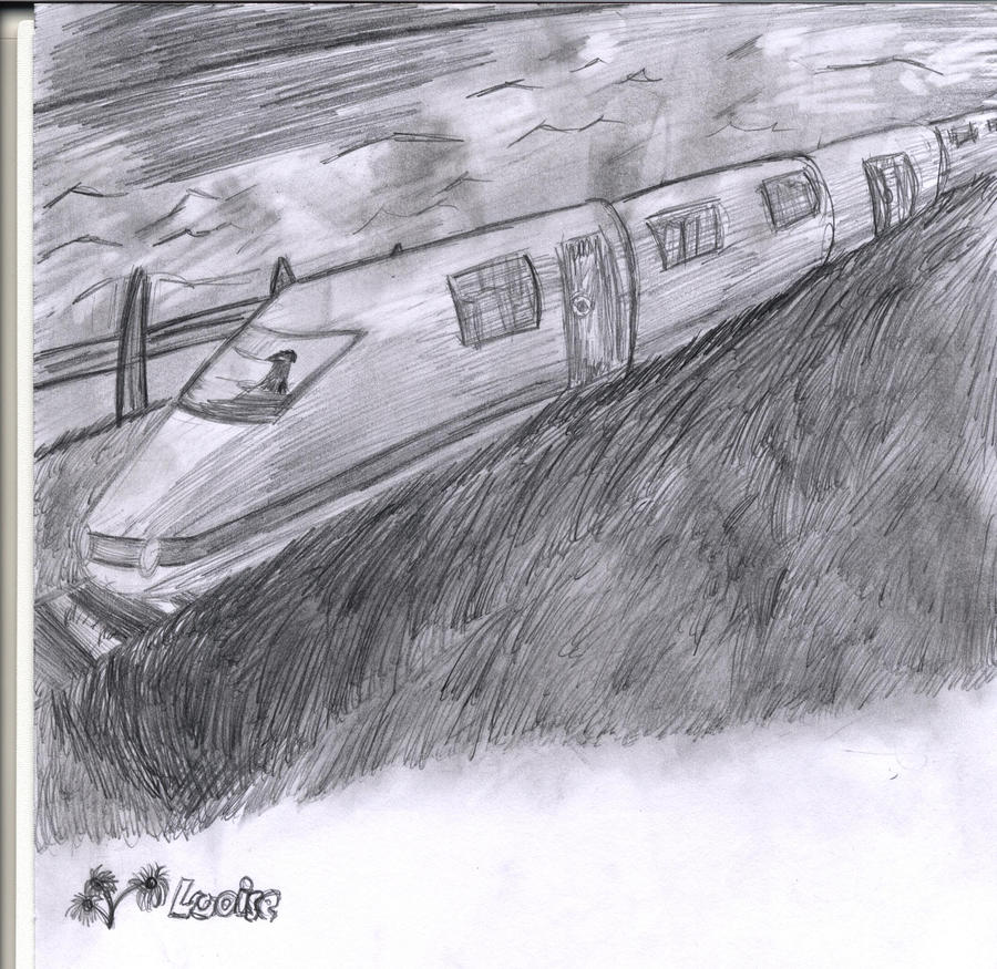 Pencil Sketches of Trains
