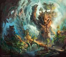 Raging elemental by ChrisOstrowski