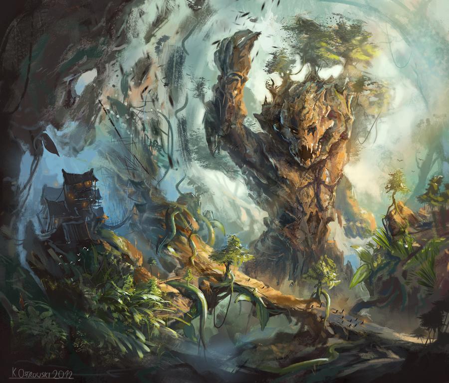 Raging elemental by najtkriss