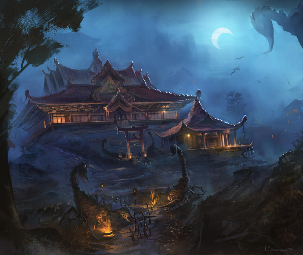 Japanese Sci Fi Art Iso50 Blog: The Shadowed Estate By Najtkriss On DeviantArt