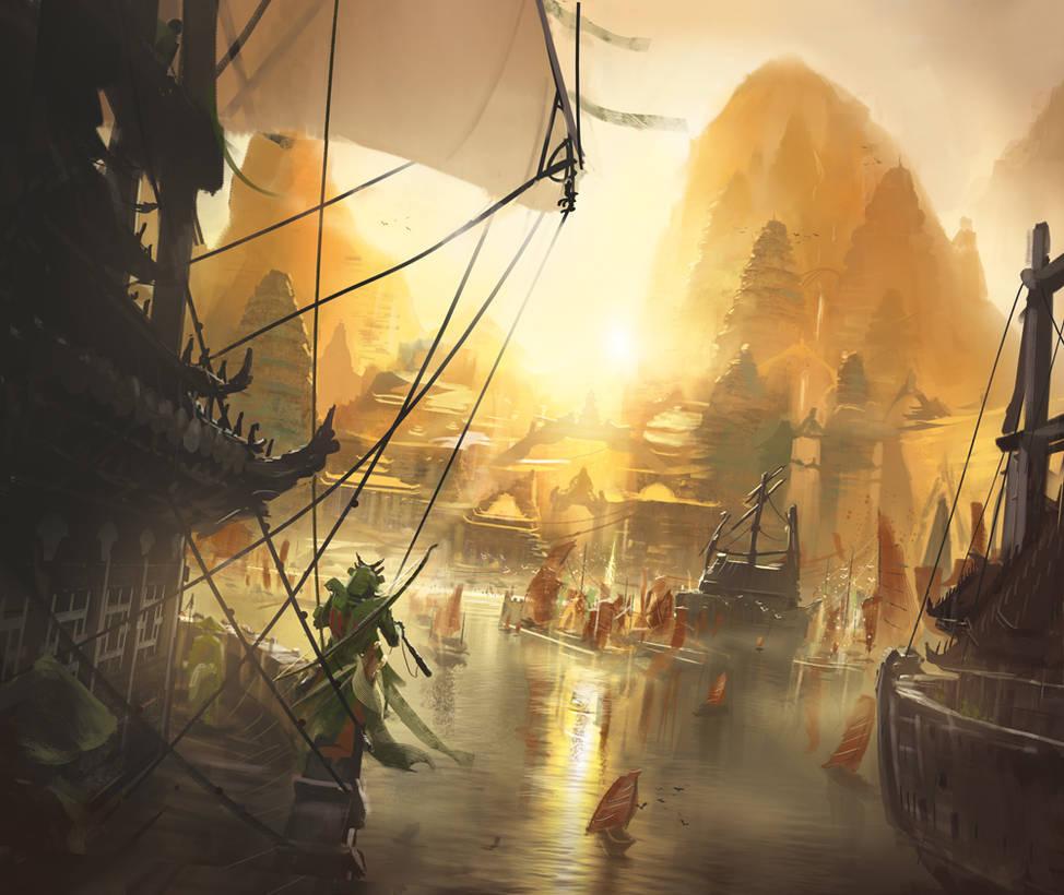 The Fruitful Port by ChrisOstrowski
