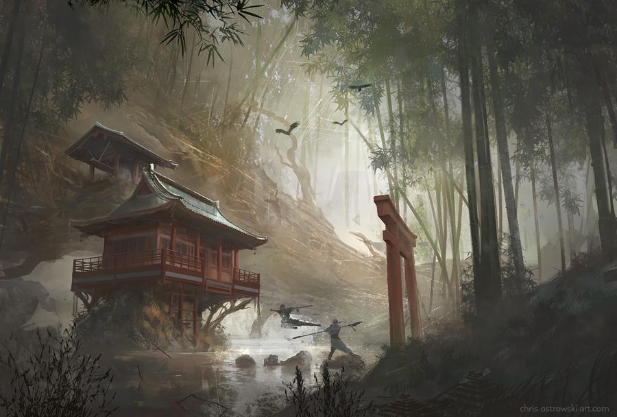 Remote Temple by najtkriss