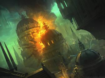 Blast Zone MtG by ChrisOstrowski