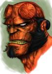 Hellboy digital paint