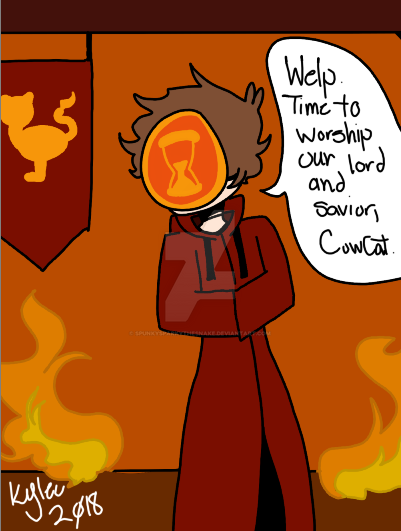 CowCat Worshiper by SpunkySparkytheSnake
