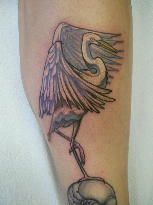 cattle egret by resonanteye on deviantart rh deviantart com snowy egret tattoo Heron Tattoo Designs