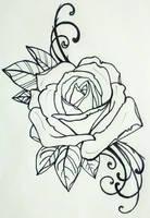tattoo rose by resonanteye