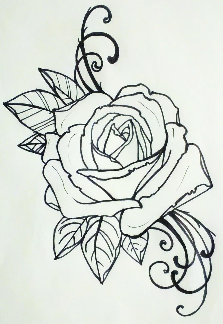 tattoo rose by resonanteye on deviantart. Black Bedroom Furniture Sets. Home Design Ideas