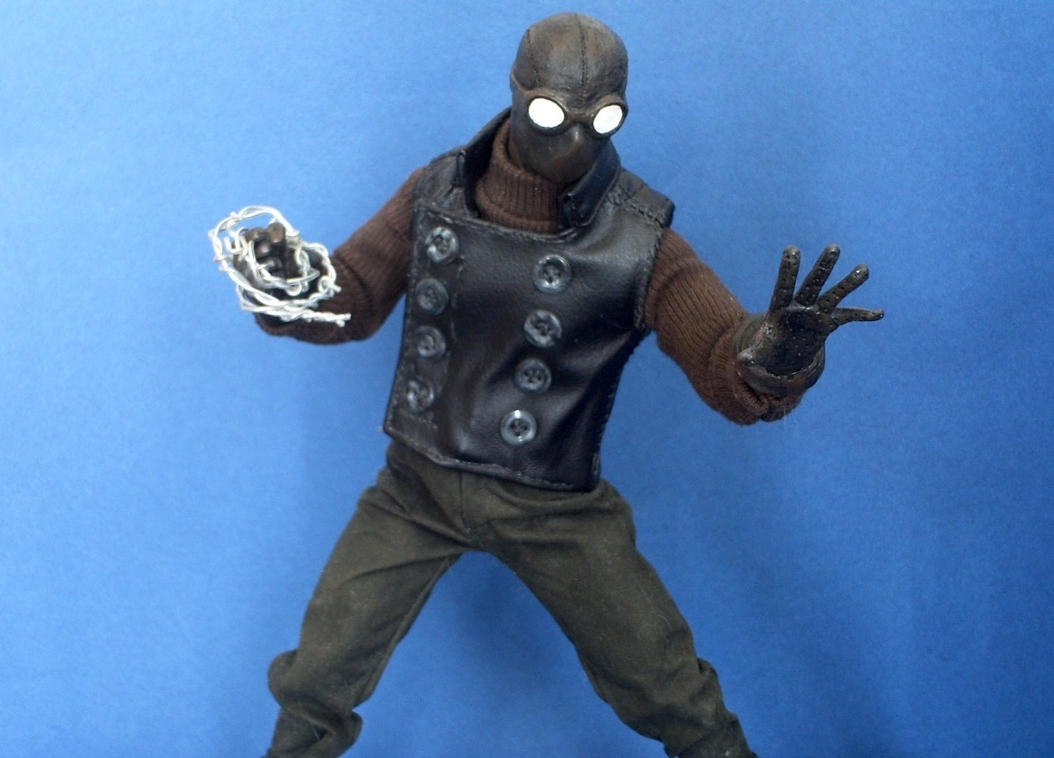 Spider-Man Noir custom action figure by SomethingGerman