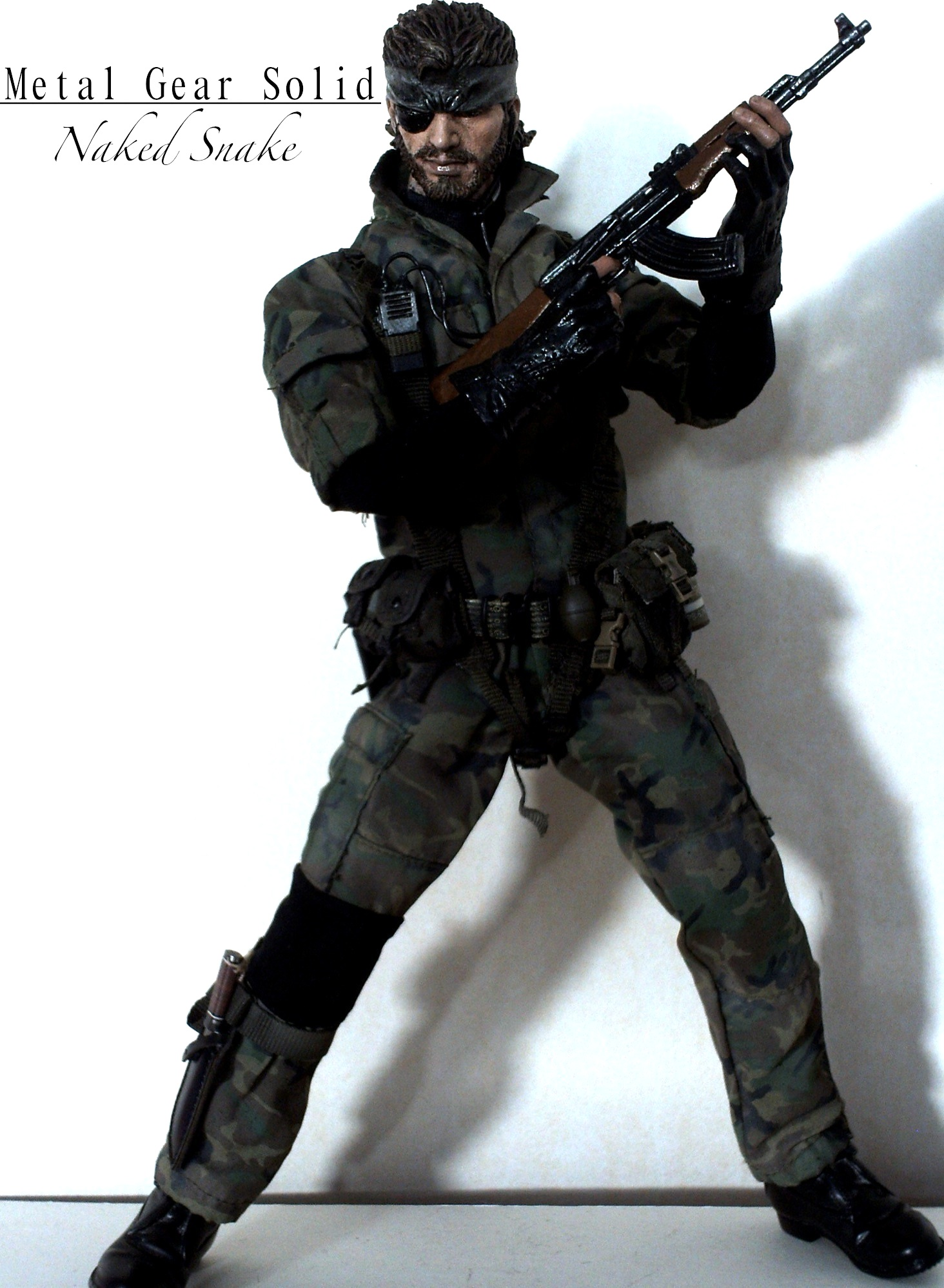 Metal Gear Solid - Naked Snake with AK-47 by