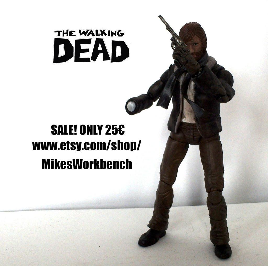 SALE The Walking Dead Comic Rick Grimes Custom Toy By SomethingGerman