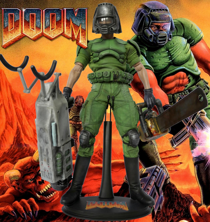Doom Doomguy custom action figure by SomethingGerman