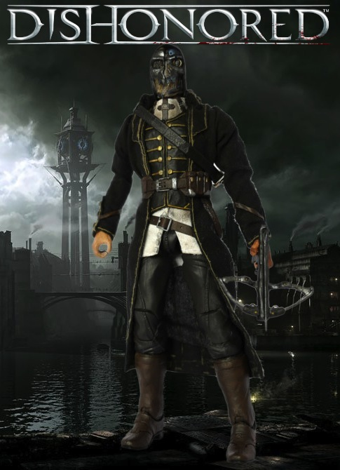 Dishonored Corvo Attano custom action figure by SomethingGerman