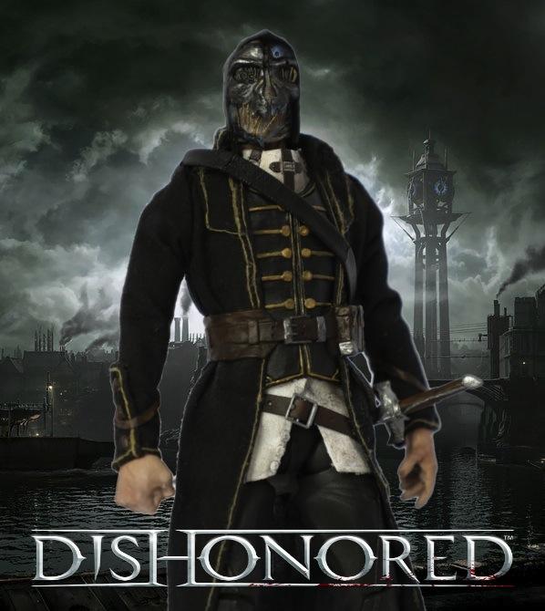 Dishonored Corvo Attano custom action figure by SomethingGerman