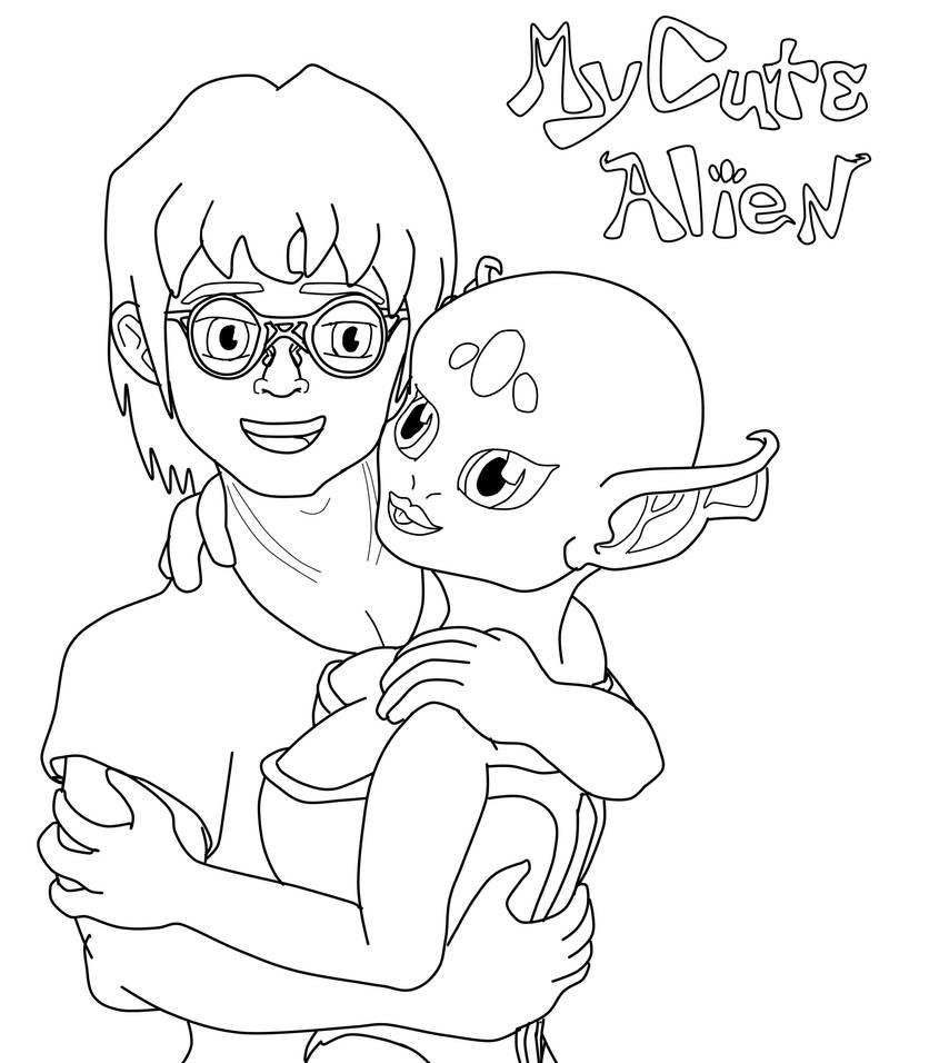 Maria and Gus (My Cute Alien) by DFroGGotten1