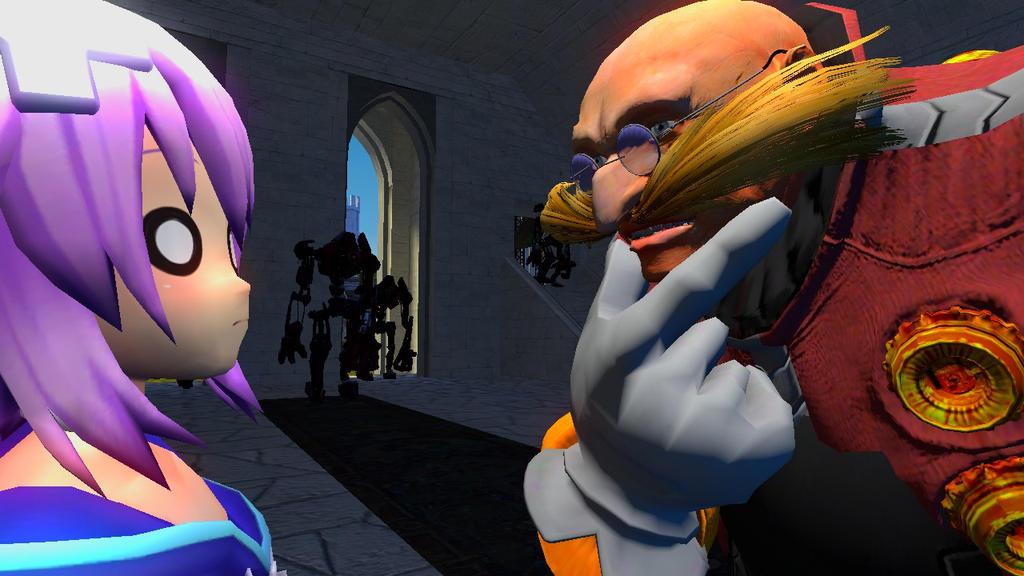Neptune meets Eggman (06) by DevilnekoX on DeviantArt