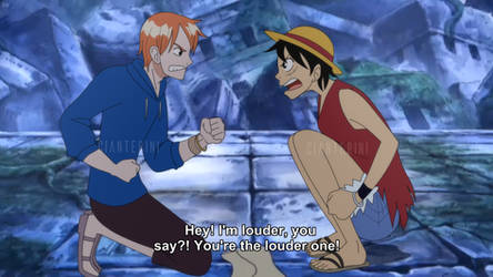 OP -  M!Nami and F!Luffy [Ep. 194 Fake screenshot] by Cianterini