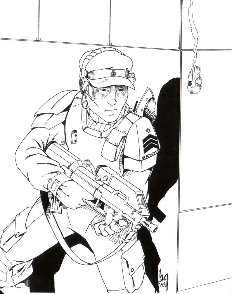 Sgt. Trask by Sabakakrazny