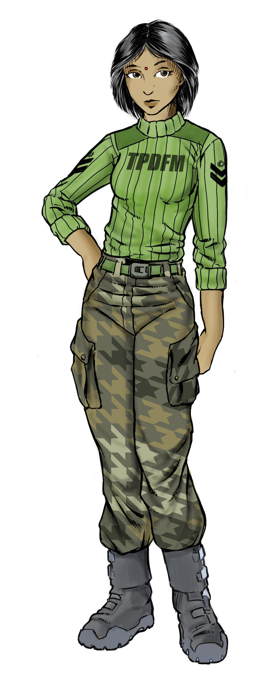 Terran Praesidium Marines Fatigue / Duty uniform by Sabakakrazny