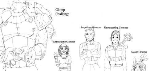 Glomp Types by Sabakakrazny