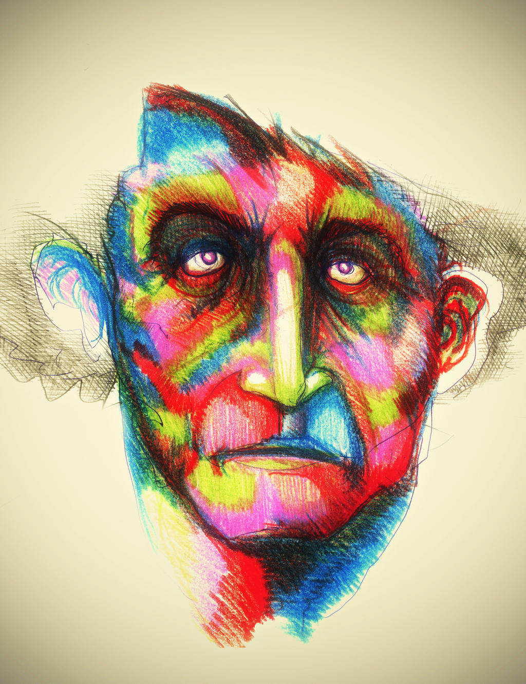 trippy art drawings faces wwwimgkidcom the image kid