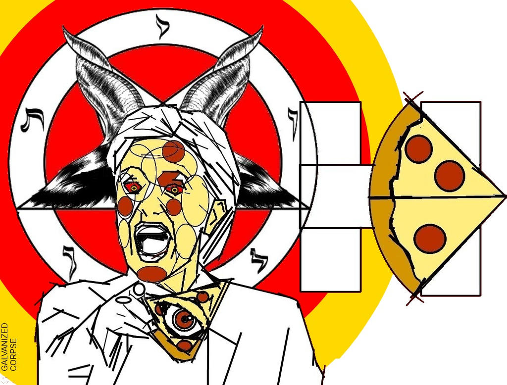hillary loves pizza #PIZZAGATE by GalvanizedCorpse