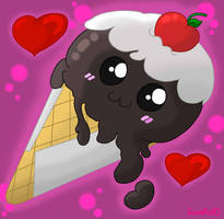 Kawaii Ice Cream by SweetArtS2