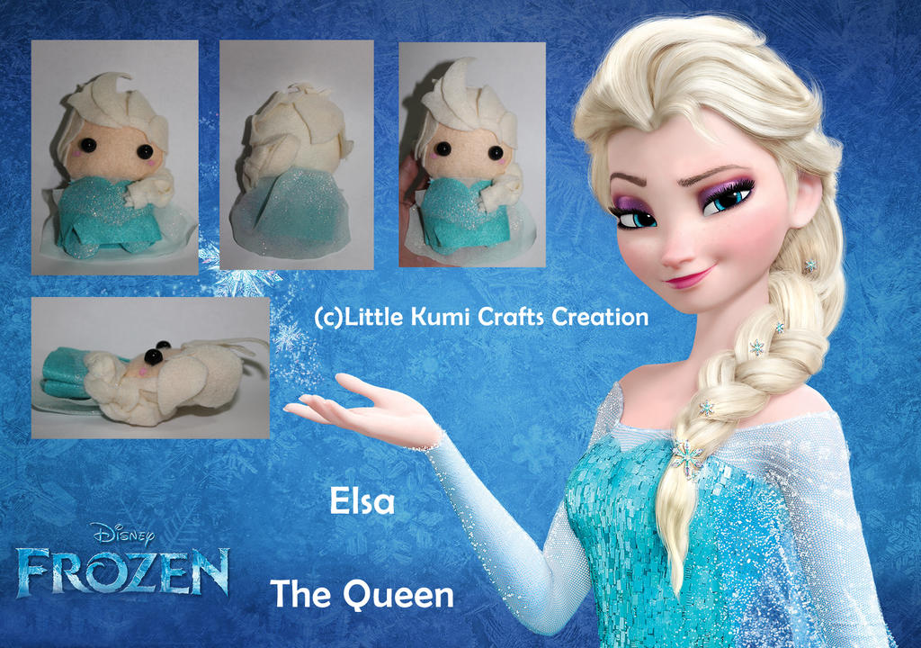 Elsa Chibi Plush FROZEN by lkcrafts on DeviantArt