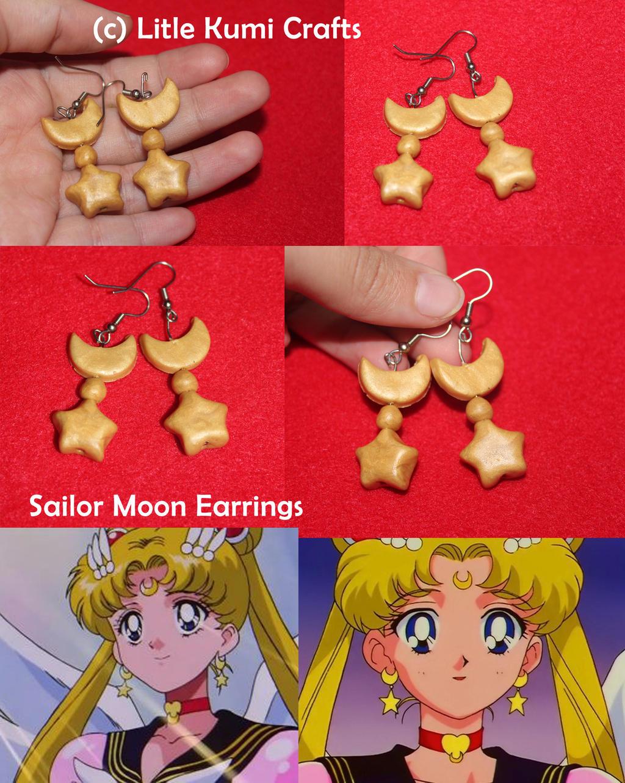 sailor moon earrings by lkcrafts on deviantart
