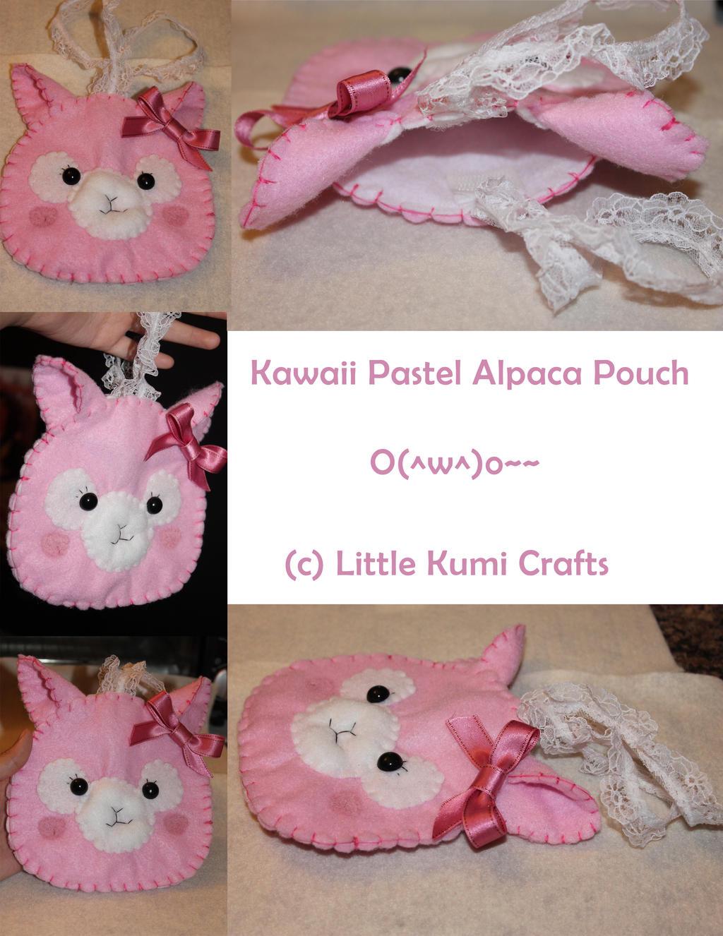 Kawaii Alpaca Pouch by lkcrafts