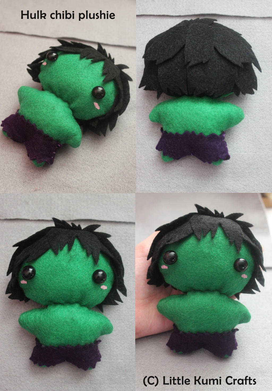 Chibi Hulk Cute Hulk Chibi Plushie by