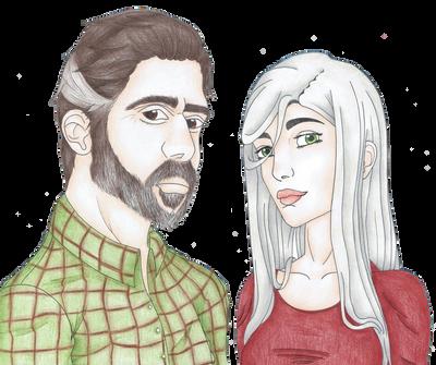 Bob and Evelyn by JenitaDraws