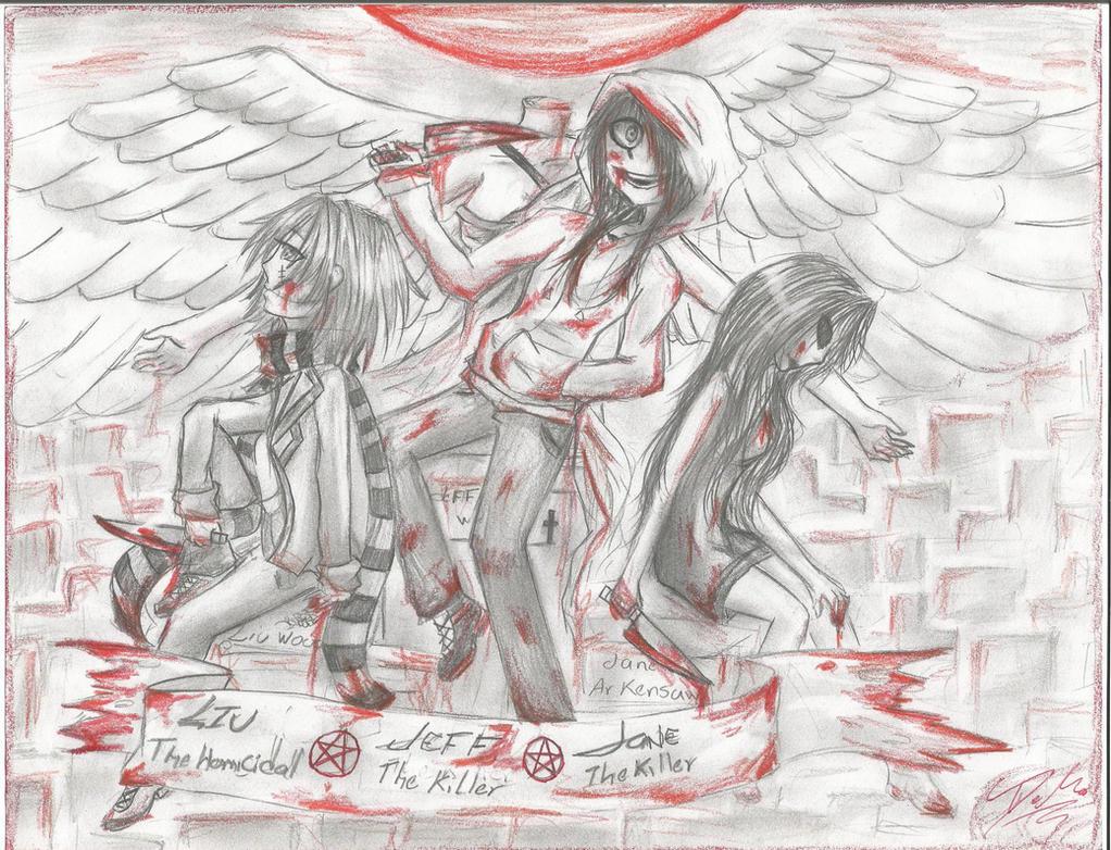 Dibujos Para Imprimir De Jeff De Killery Jane De Killer: Liu The Homicidal+Jeff The Killer+Jane The Killer By Jack