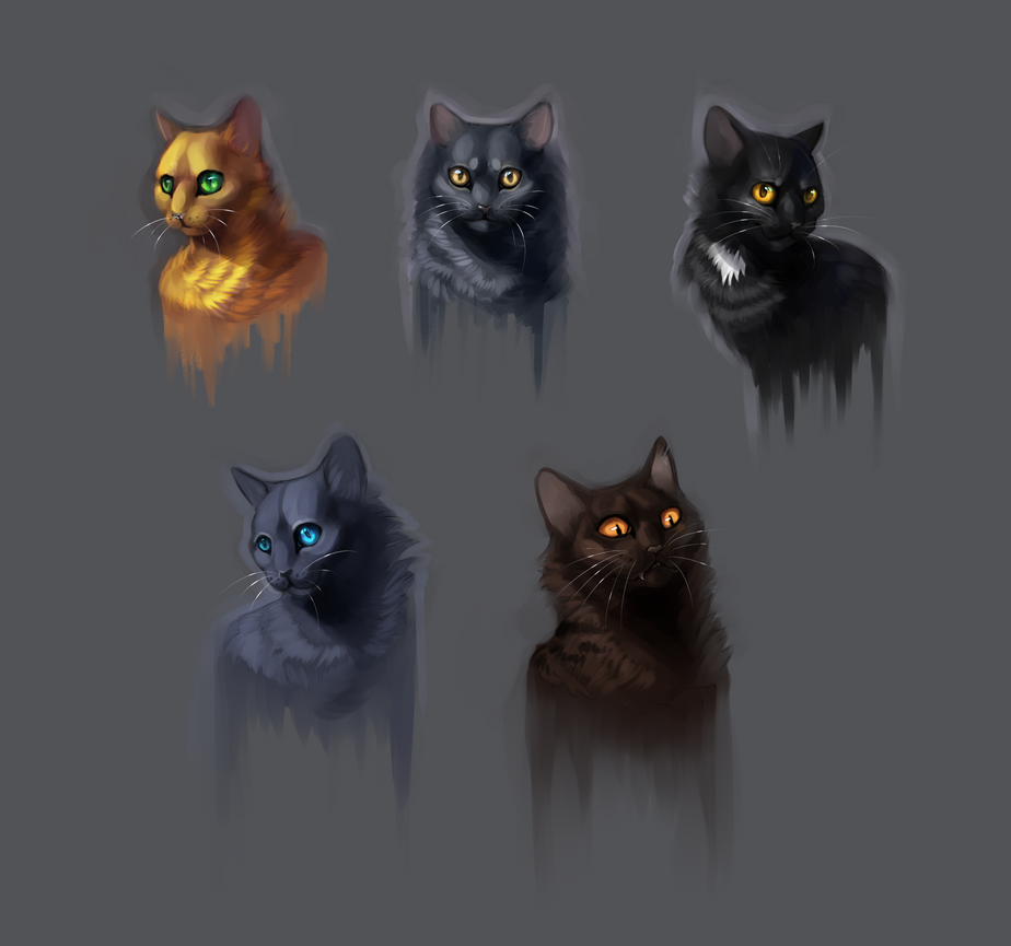 Portraits by Happy--Cat