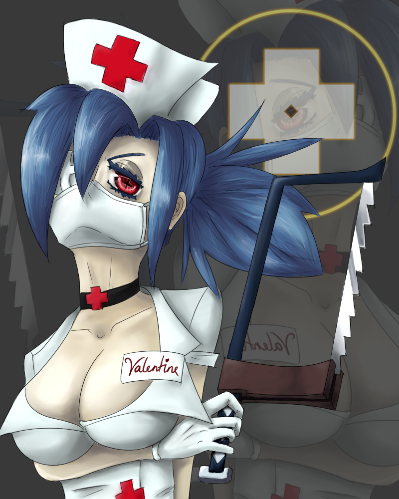 Valentine from SkullGirls by OdeeQuack