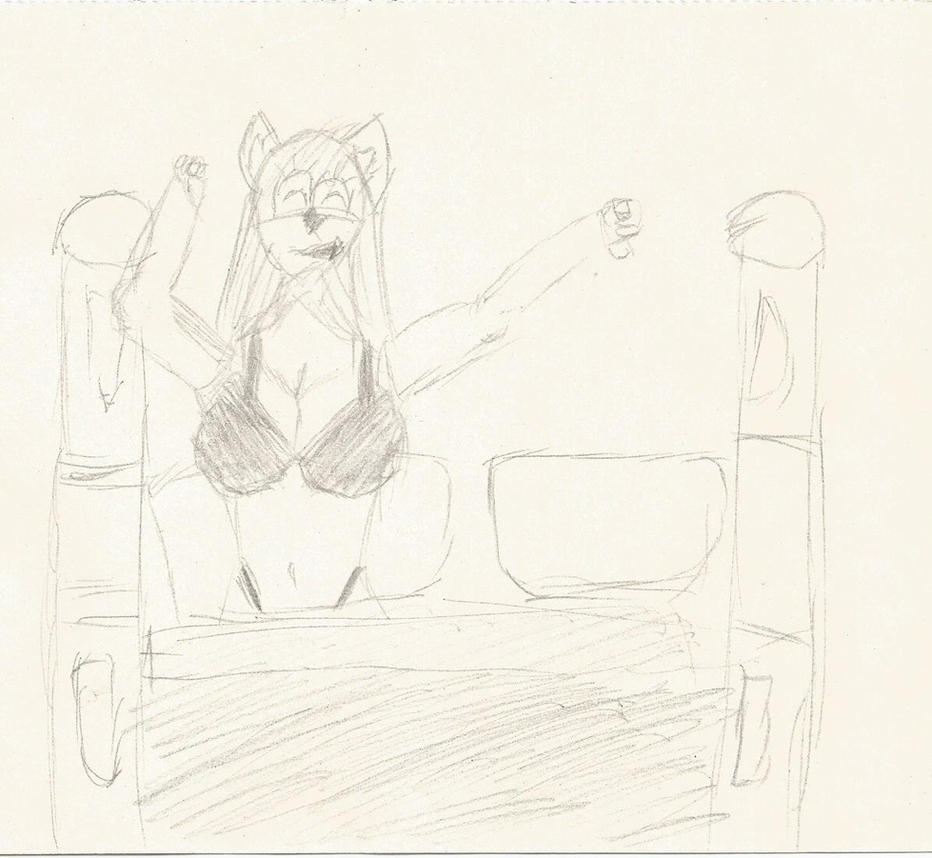 Joy in bed by JaredTheCat