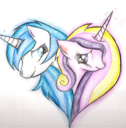 shining armor and cadence by XxsilvixX