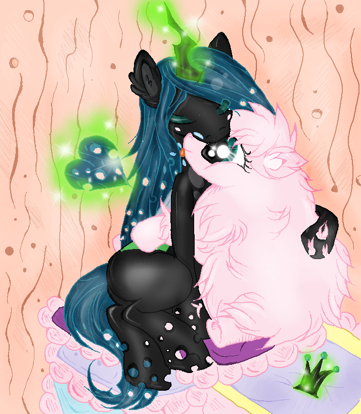 chrysalis and fluffle puff by XxsilvixX