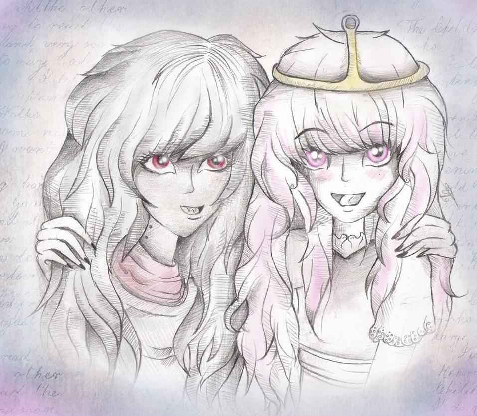 princess bubblegum and marceline  skeshe by XxsilvixX