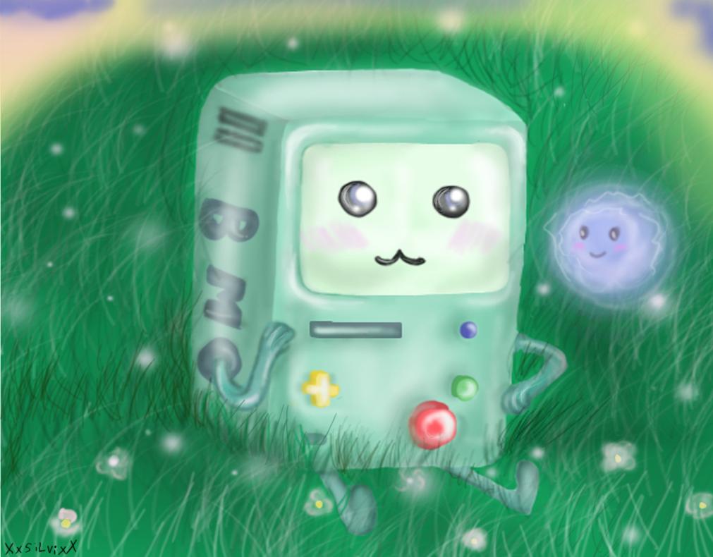 bubble and bmo by XxsilvixX
